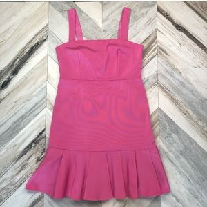 NWT J. Crew Bubblegum Pink Faille Fluted Hem Dress